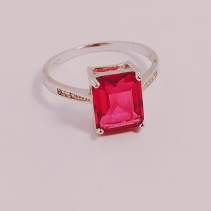 Jewelry - 💍 Sterling Silver, Simulated Ruby